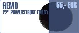 "Remo 22"" Powerstroke 3 Ebony Bass"