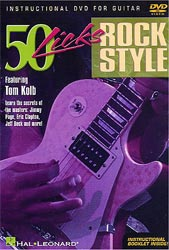 Hal Leonard Rock Styles 50 Licks (DVD)