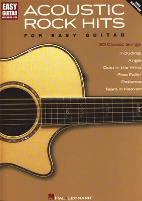 Hal Leonard Acoustic Rock Hits Easy Guitar
